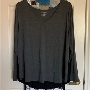 Grey/Black Blouse